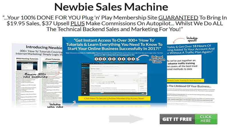 Newbie Sales Machine Review, Health Supplement Hub